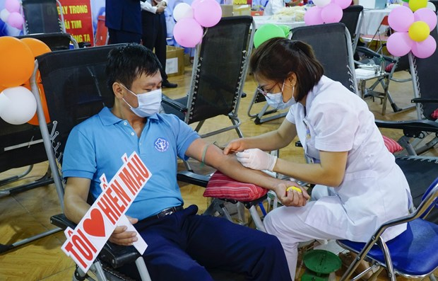 Voluntary blood donation event held in Dien Bien province hinh anh 1