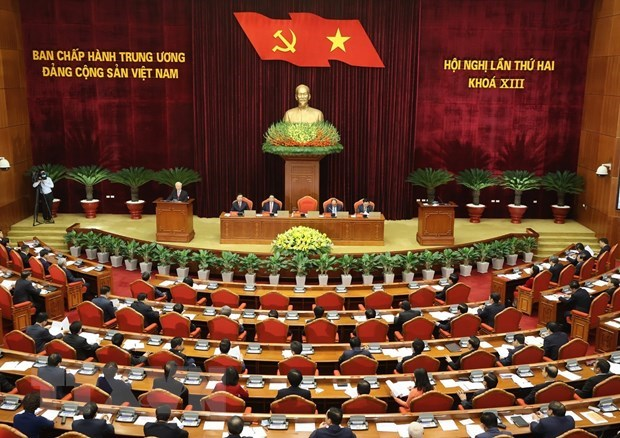 Central Party Committee discusses whole-term working agenda, personnel work hinh anh 1