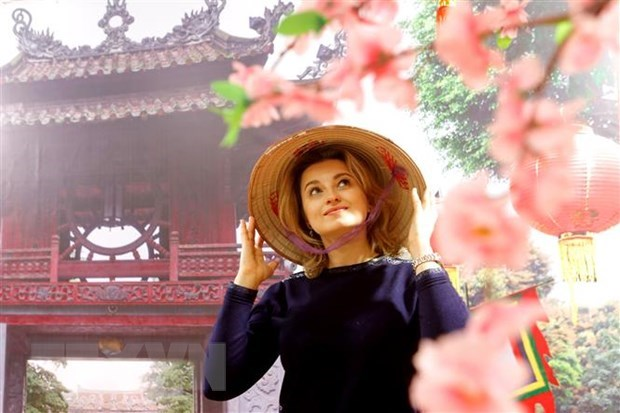 Russian photographer impressed by Vietnam's Ao Dai hinh anh 1