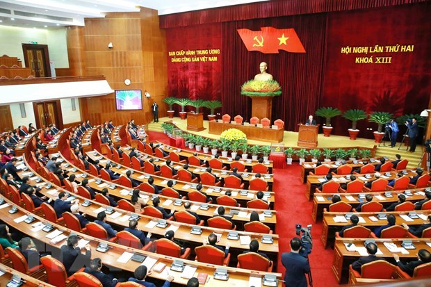 Announcement of 13th Party Central Committee's second plenum hinh anh 1