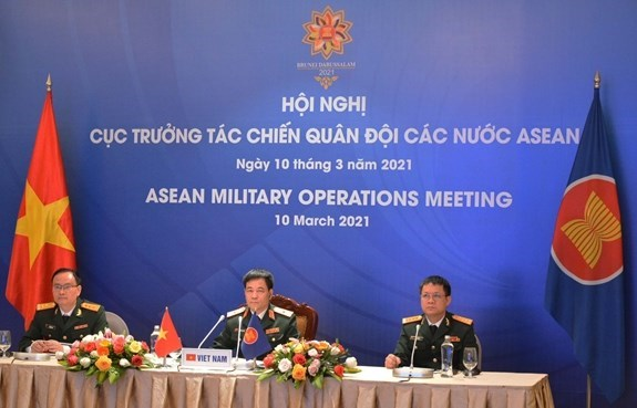11th ASEAN Military Operations Meeting held online hinh anh 1