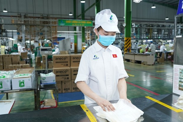 Vietnamese compostable production line gets trademark in US hinh anh 1