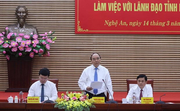 Prime Minister asks Nghe An province to lure big, strategic projects hinh anh 1