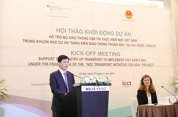 Project to reduce greenhouse gas emissions in transport sector launched hinh anh 1