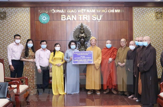 HCM City Buddhist Sangha joins COVID-19 prevention efforts hinh anh 1