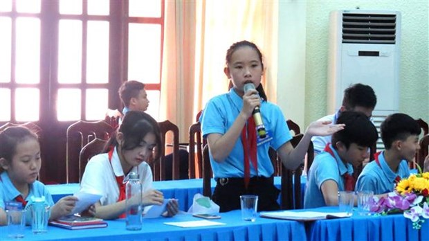 Quang Binh: Children's Council helps promote children's voice hinh anh 1