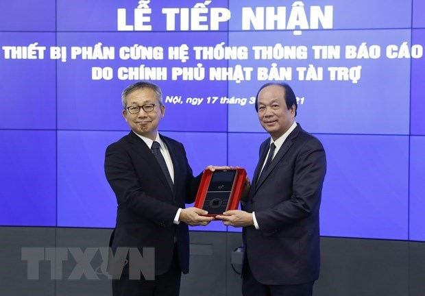 Vietnam receives Japanese equipment for Government Information Reporting System hinh anh 1