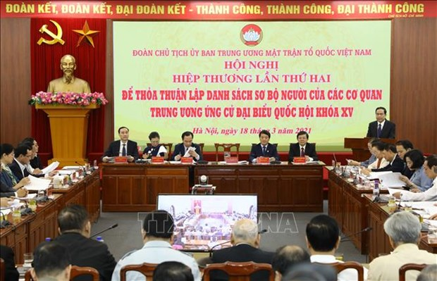 15th NA election: Presidium of VFF Central Committee holds second consultative conference hinh anh 1