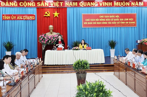 NA Chairwoman works with An Giang on election preparations hinh anh 1