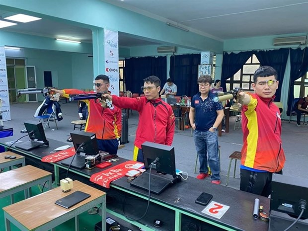 Marksman Tran Quoc Cuong shoots for Olympic slot in India hinh anh 1