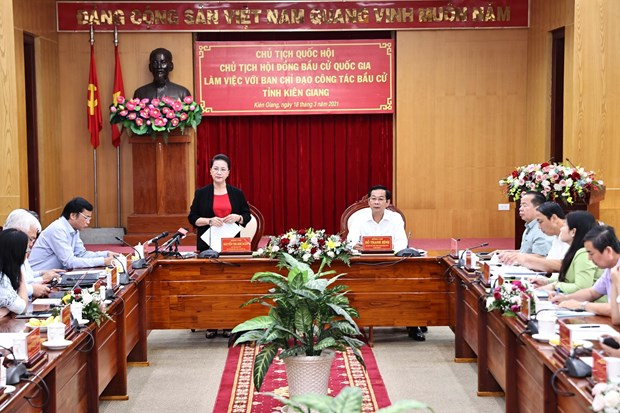 Top legislator works with Kien Giang on election preparations hinh anh 1
