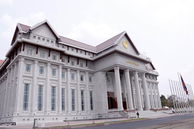 Vietnamese-funded new National Assembly Building handed over to Laos hinh anh 1