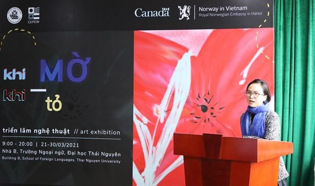 Thai Nguyen university's exhibition sheds light on gender violence hinh anh 1
