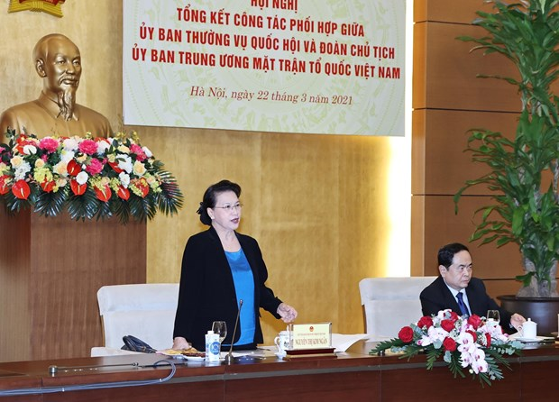 NA Standing Committee, VFF Central Committee's Presidium boost coordination hinh anh 1