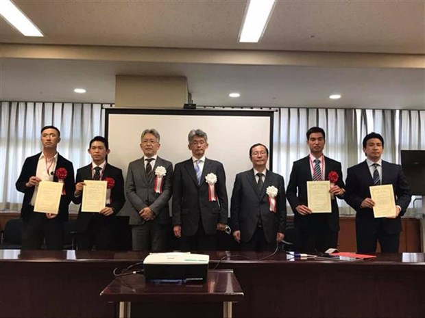 Four Vietnamese honoured as excellent foreign workers in Japan hinh anh 1
