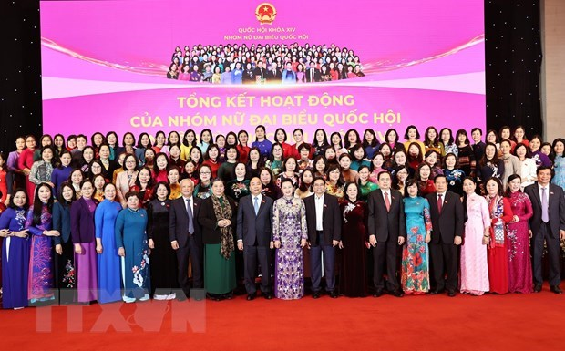 Efforts of female parliamentarians reviewed hinh anh 2