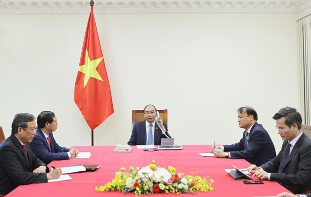 Vietnamese PM, Chilean President discuss ways to foster bilateral ties hinh anh 1