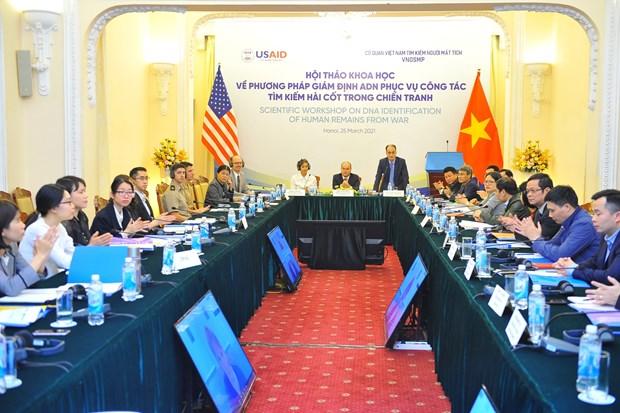 Vietnam, US experts share DNA analysis methods to address war legacies hinh anh 1