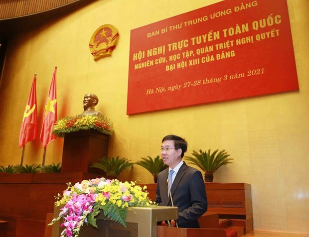 National conference popularising resolution of 13th National Party Congress hinh anh 2