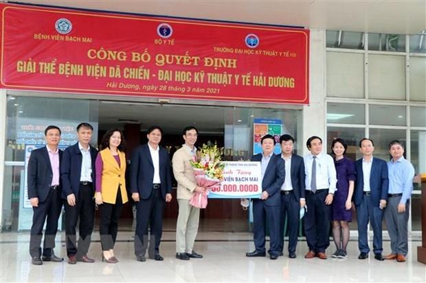 Hai Duong closes temporary hospital for COVID-19 treatment hinh anh 1