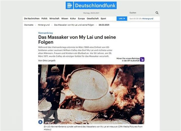 German historian: My Lai massacre a terrible war crime hinh anh 1