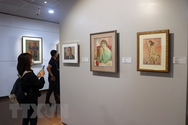 Exhibition of paintings donated by Japanese collector opens in Da Nang hinh anh 1