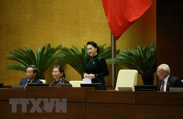 Nguyen Thi Kim Ngan relieved from chairmanship of NA, National Election Council hinh anh 1