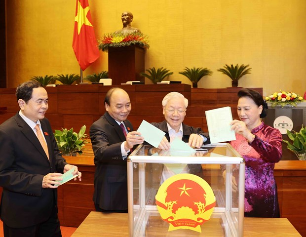 Vuong Dinh Hue elected as Chairman of NA, National Election Council hinh anh 3