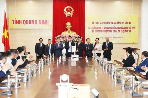 Hong Kong firm invests in photovoltaic cell technology project in Quang Ninh hinh anh 1