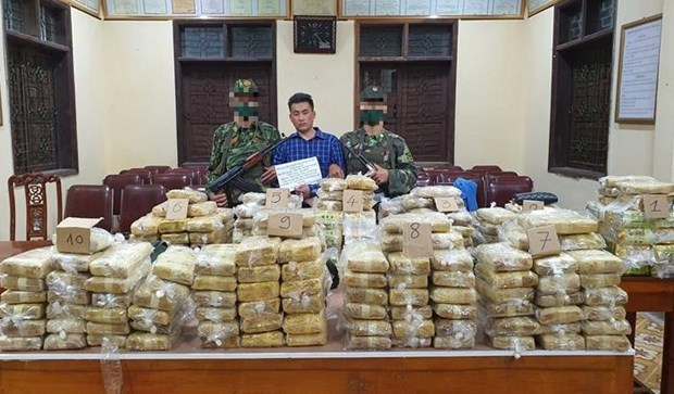 350kg of drugs seized in major bust hinh anh 1