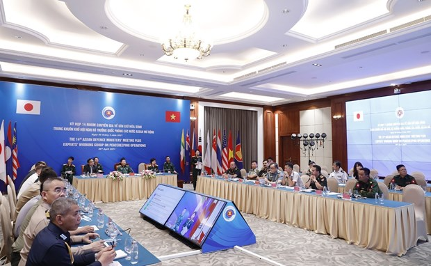 Vietnam, Japan co-chair 14th meeting of EWG on peacekeeping operations hinh anh 1