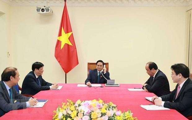 Cambodian PM congratulates new Vietnamese PM via phone talks hinh anh 1
