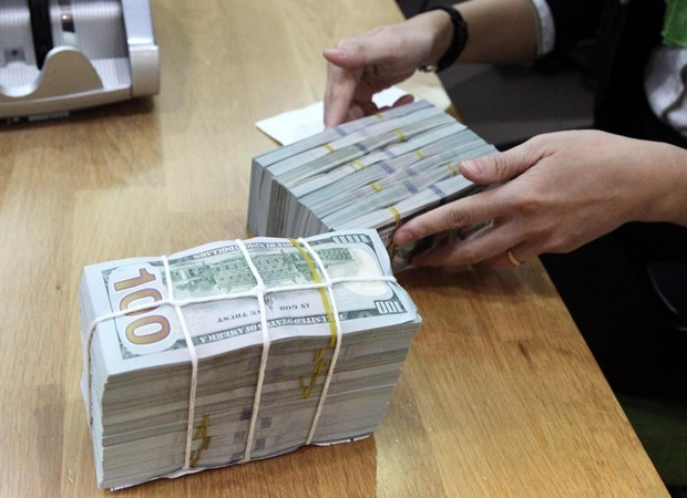 Reference exchange rate down 4 VND on April 13 hinh anh 1