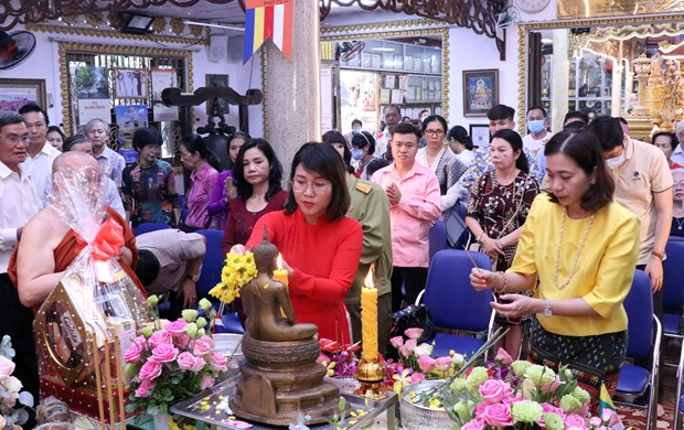 HCM City ceremony marks traditional New Year of neighbouring countries hinh anh 1
