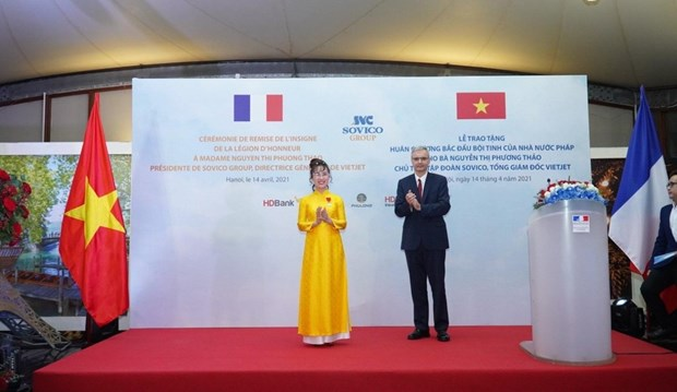 First Vietnamese businesswoman to be granted France's Legion of Honour hinh anh 1