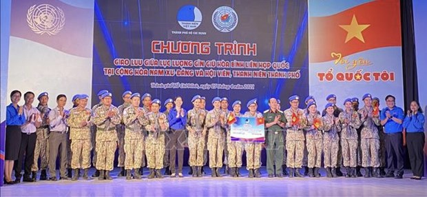 Exchange held between Vietnamese peacekeepers, HCM City's youths hinh anh 1