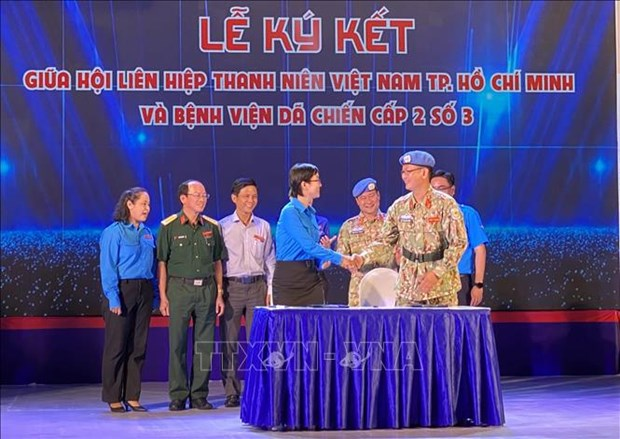 Exchange held between Vietnamese peacekeepers, HCM City's youths hinh anh 2