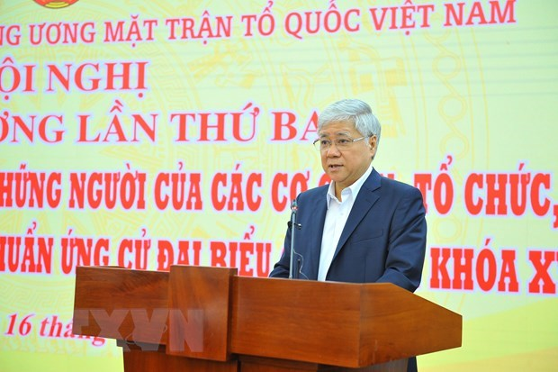 Third central-level consultative conference adopts list of candidates for upcoming election hinh anh 1