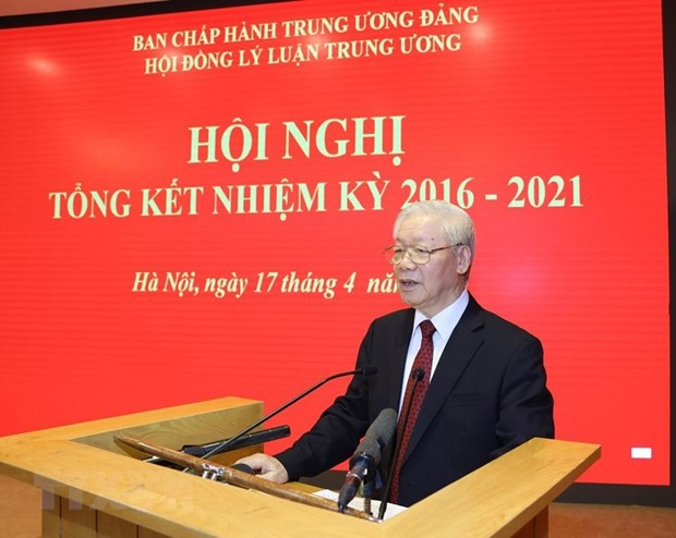 Party leader asks for better performance by Central Theoretical Council hinh anh 1
