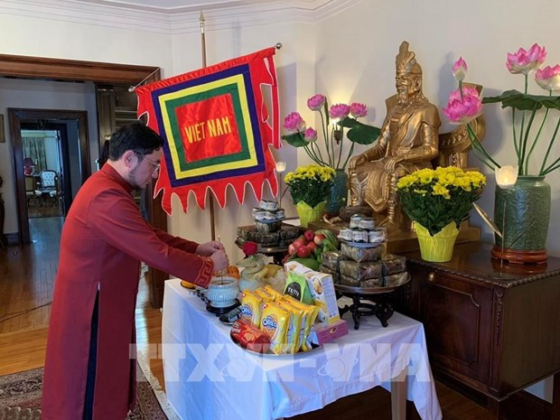 Embassy in Canada holds online Hung Kings worship ceremony hinh anh 1