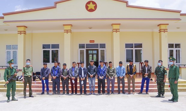 Dien Bien: 12 arrested for organising illegal exit hinh anh 1