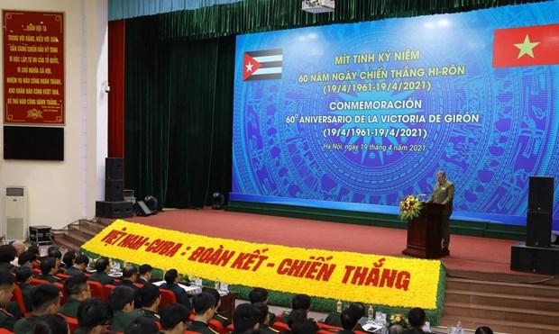 Hanoi ceremony marks 60th anniversary of Cuba's Giron victory hinh anh 1