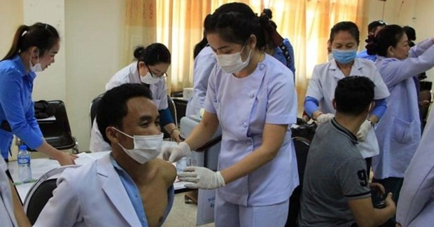 Laos sees good progress of COVID-19 vaccination programme hinh anh 1