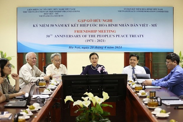 Gathering marks 50 years of Vietnam - US People's Peace Treaty hinh anh 1