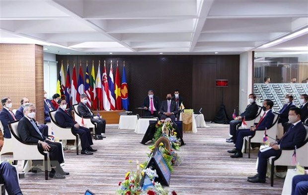 ASEAN leaders discuss Myanmar situation hinh anh 1