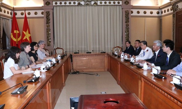 HCM City, UNICEF boost cooperation in child care hinh anh 1