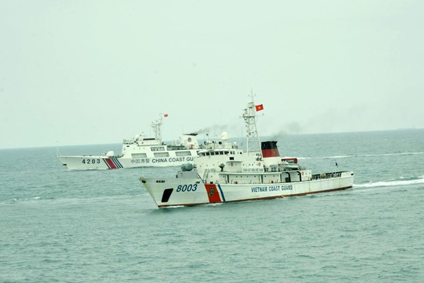 Vietnam-China joint patrol in Tonkin Gulf ends hinh anh 1