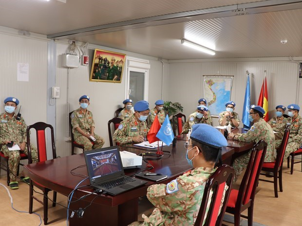 "Vietnam's ""blue beret"" medical soldiers fulfil mission despite COVID-19 hinh anh 1"