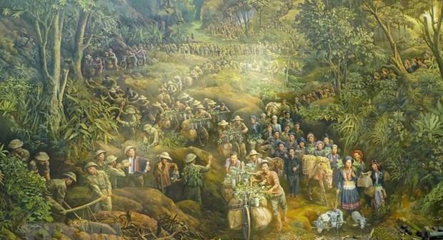 Gigantic painting reenacts historic Dien Bien Phu Victory hinh anh 1