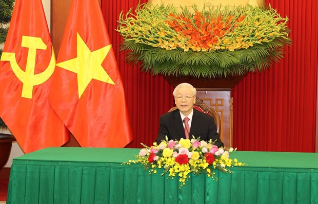 Vietnam always treasures special ties with Cuba: Party chief hinh anh 1